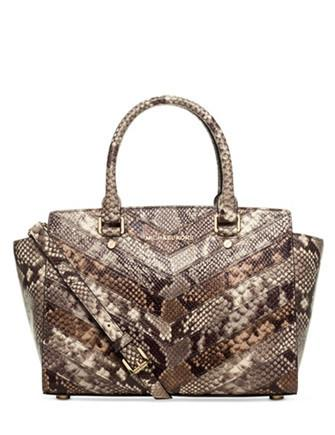 Michael Michael Kors Embossed Python Selma Medium Satchel
