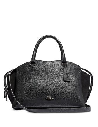 Coach Mixed Leather Drew Satchel