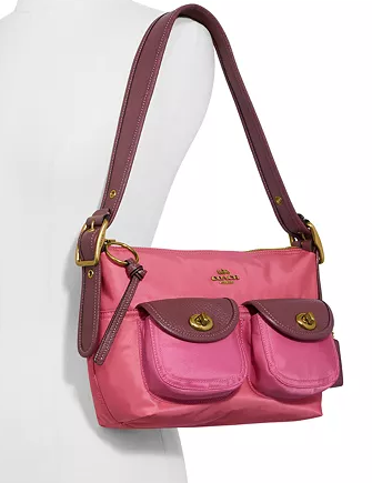 Coach Colorblock Nylon Cargo Shoulder Bag 23