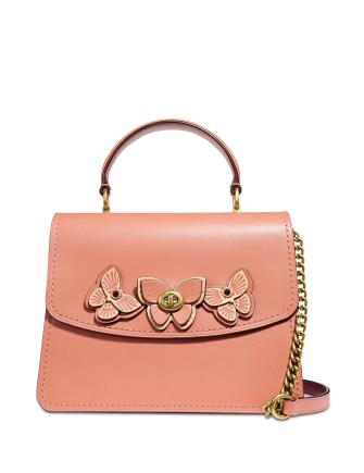 Coach Parker Butterfly Appliqué Leather Satchel