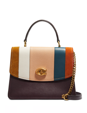 Coach Parker Patchwork Top Handle Satchel