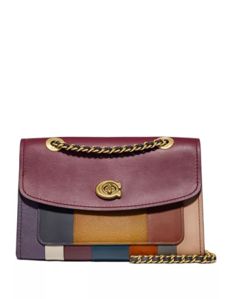 Coach Patchwork Stripe Parker Shoulder Bag