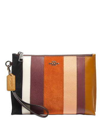 Coach Patchwork Stripes Charlie Pouch