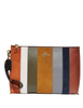 Coach Patchwork Stripes Large Charlie Pouch