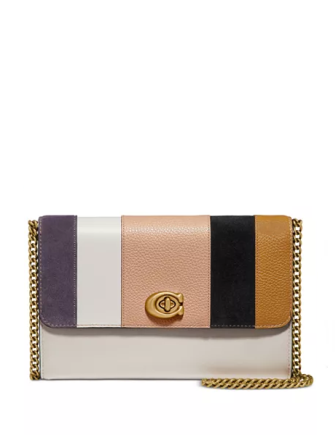 Coach Patchwork Stripes Marlow Crossbody