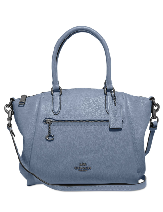 Coach Polished Pebble Leather Elise Small Satchel