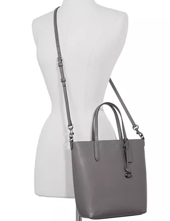 Coach Refined Calf Leather Central Shopper Tote