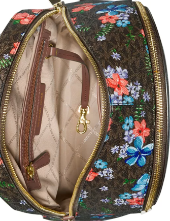Michael Michael Kors Rhea Signature Floral Zip Backpack