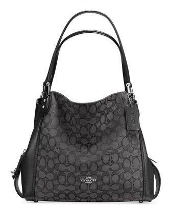 Coach Signature Edie Shoulder Bag 31 in Signature Jacquard