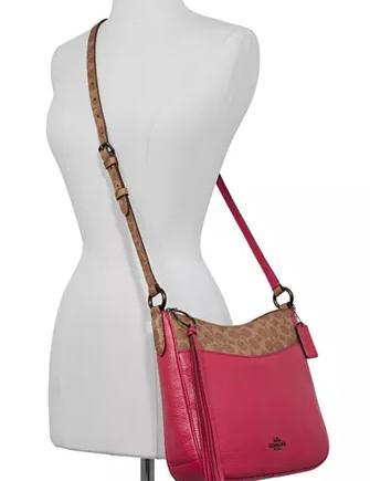 Coach Signature Leather Colorblock Chaise Crossbody