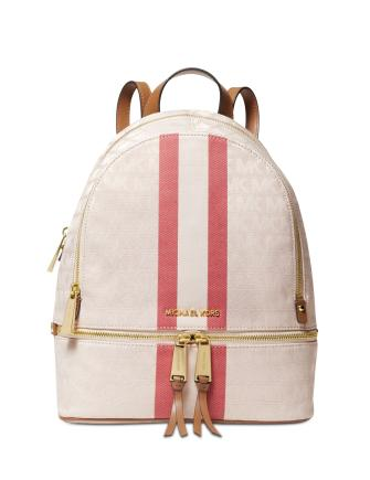 Michael Michael Kors Signature Stripe Rhea Backpack