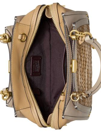 Coach Straw Colorblocked Dreamer Satchel