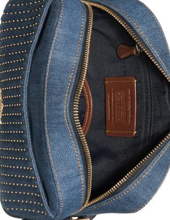 Coach Studded Denim Camera Bag
