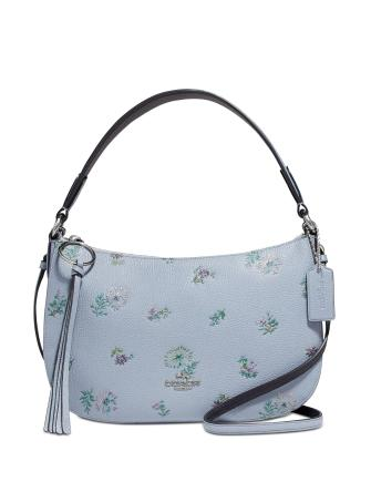 Coach Sutton Leather Crossbody In Meadow Print