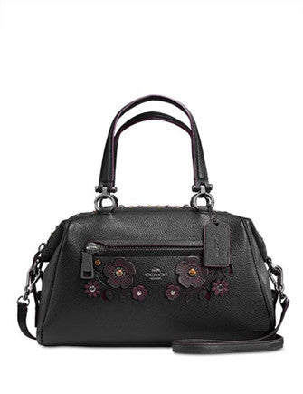Coach Willow Floral Primrose Satchel in Pebble Leather