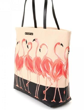 Kate Spade New York Take A Walk On The Wild Side Flamingo Tote