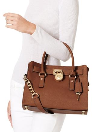 Michael Michael Kors Large Saffiano Hamilton East West Satchel