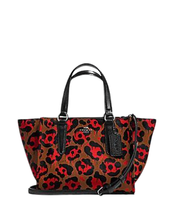 Coach Mini Crosby Carryall with Leopard Ocelot Print