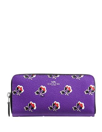 Coach Slim Accordion Zip in Bramble Rose Print