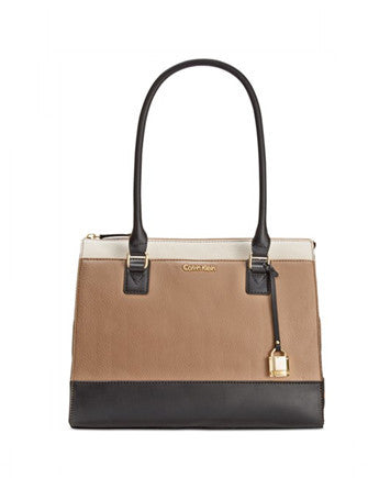 Calvin Klein Modena Pebble Leather Shoulder Tote