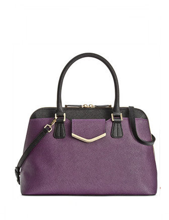 Calvin Klein On My Corner Colorblock Saffiano Satchel