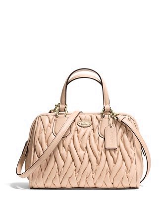 Coach Gathered Leather Mini Nolita Zip Satchel