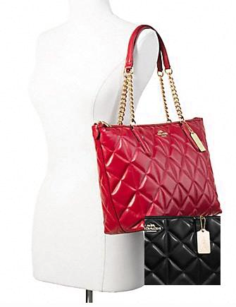 Coach Ava Chain Shoulder Tote in Quilted Leather
