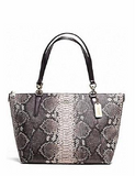 Coach Ava Python Embossed Leather Tote
