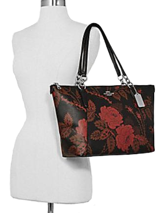 Coach Ava Tote With Thorn Roses Print