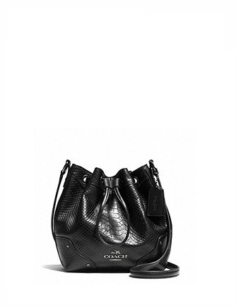 Coach Baby Mickie Drawstring Shoulder Bag in Exotic Leather