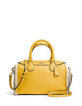 Coach Mini Bennett Satchel in Shearling and Leather