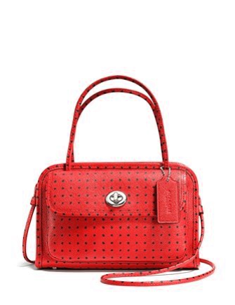 Coach Cady Crossbody in Dot Printed Crossgrain Leather