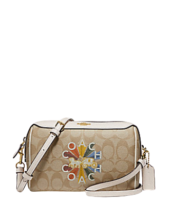 Coach Bennett Crossbody in Signature Canvas With Radial Rainbow