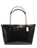 Coach Ava Chain Shoulder Tote in Patent Crossgrain Leather