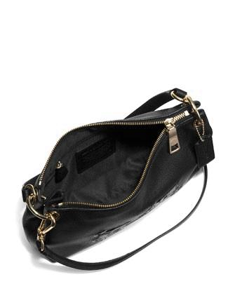 Coach Embossed Horse and Carriage Charley Top Handle Crossbody