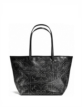 Coach Large Street Taxi Tote in Mini Studs