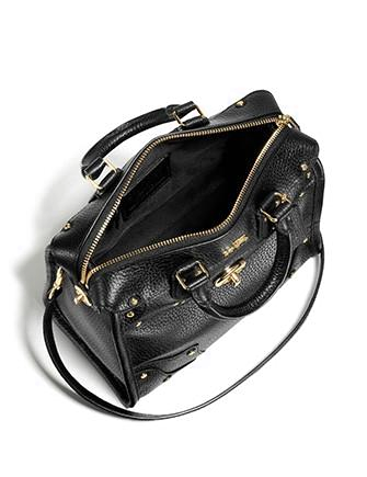 Coach Mini Rhyder 33 Satchel In Pebble Leather