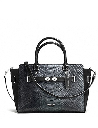Coach Blake Carryall in Metallic Exotic Embossed Leather