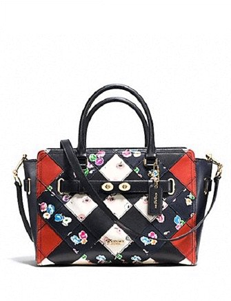 Coach Blake Carryall in Printed Patchwork Leather