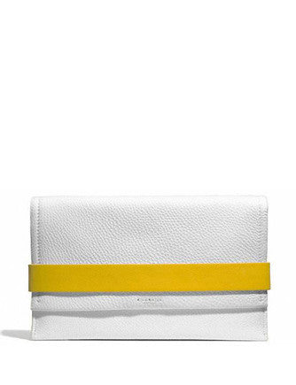 Coach Bleecker Flap Clutch in Edgepaint Pebbled Leather