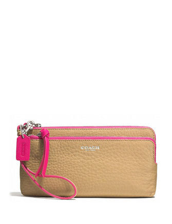 Coach Bleecker Double Zip Wallet in Edgepaint Leather