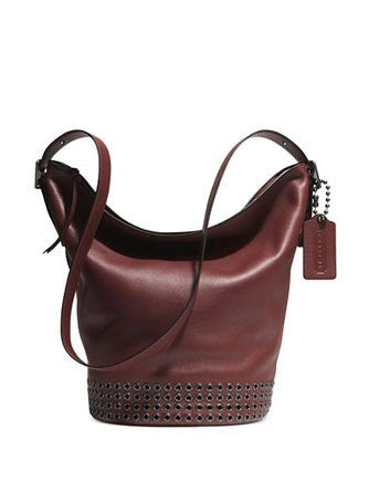 Coach Bleecker Grommets Duffle Shoulder Bag in Leather