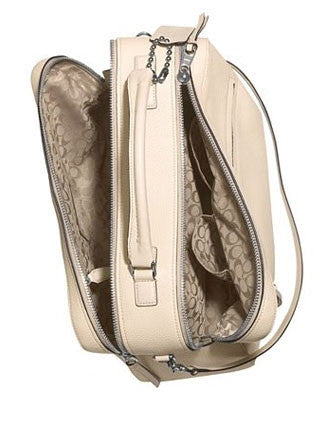 Coach Bleecker Large Toaster Zip Top Satchel In Pebbled Leather