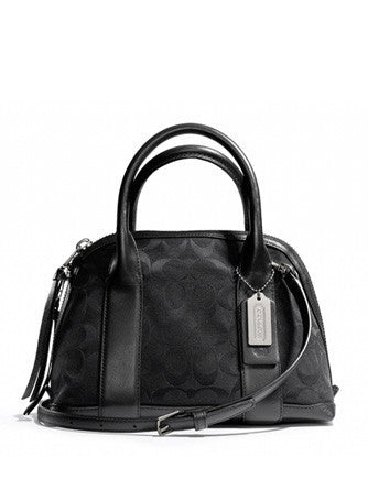 Coach Bleecker Mini Preston Satchel In Signature Fabric