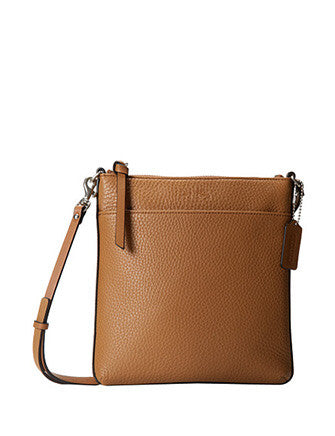 Coach Bleecker North South Swingpack In Pebbled Leather