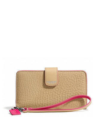 Coach Bleecker Phone Wallet in Edgepaint Leather