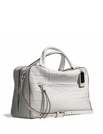 Coach Bleecker Pinnacle Toaster Satchel in Matte Embossed Croc