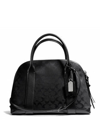 Coach Bleecker Preston Signature Fabric Zip Satchel