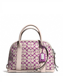 Coach Bleecker Preston Printed Signature Zip Satchel
