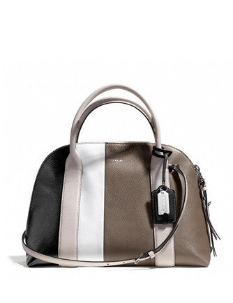 Coach Bleecker Preston Satchel in Colorblocked Leather